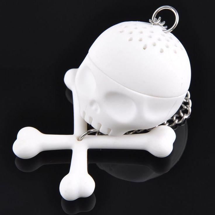 Encontrar Más Tamices del té Información acerca de 2015 Crazy caliente Tea Leaf colador silicio filtro del estilo del cráneo infusor de té lindo infusor regalo F20JJ0204 # y6, alta calidad Tamices del té de 1.99$ Super Market en Aliexpress.com