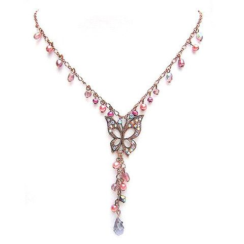 Metallic Mermaid - Purple crystal necklace – Jc & Crew