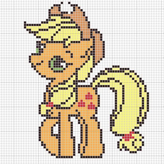 applejack pattern by ~Sailor-Phantom on deviantART