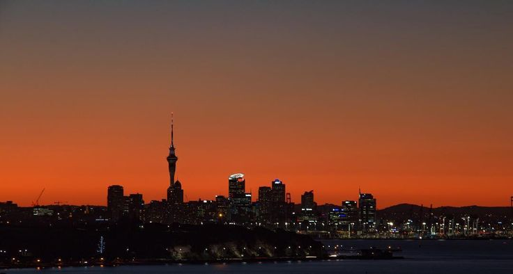 Auckland's sunset.