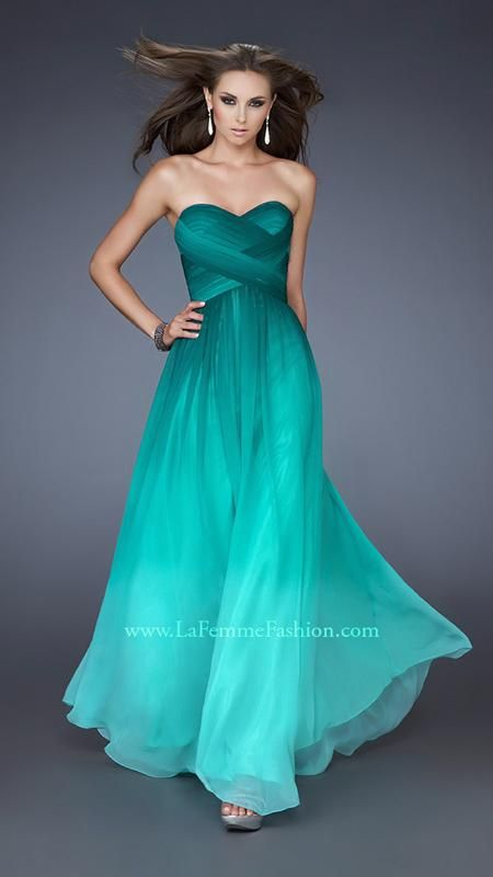 { 18497 | La Femme Fashion 2013 } La Femme Prom Dresses - Perfect Ombre - Sweetheart Strapless - Amazing Gown