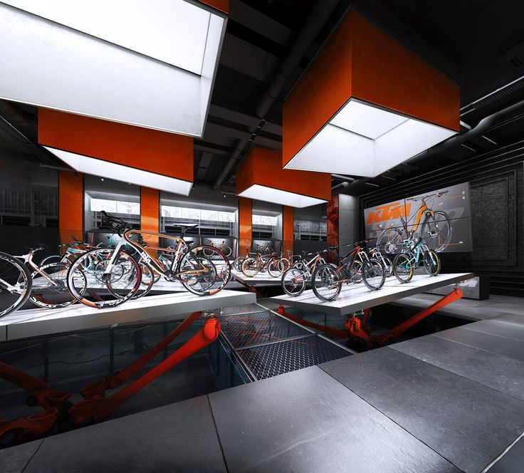 KTM BICYCLES conceptual SHOWROOM on Behance