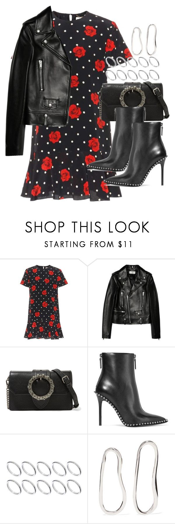 """""""Sin título #4586"""" by hellomissapple ❤ liked on Polyvore featuring Yves Saint Laurent, Miu Miu, Alexander Wang, ASOS and Sophie Buhai"""