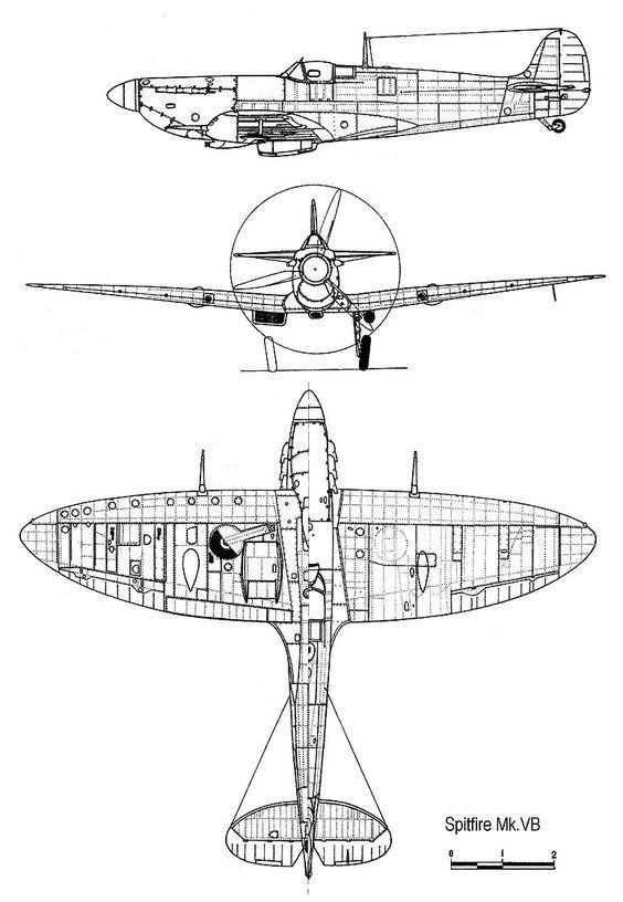 Supermarine Spitfire Blueprint Draws Rhpinterest: Spitfire Airplane Schematics Or Drawings At Gmaili.net