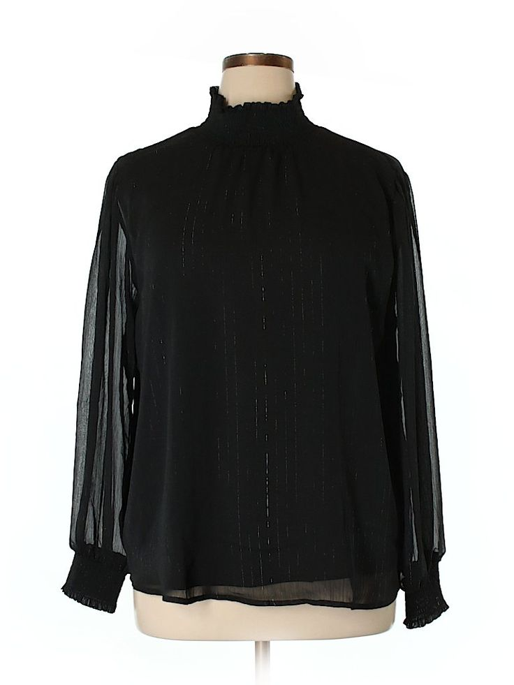 NY Collection Long Sleeve Blouse for $20.99 at thredUP!