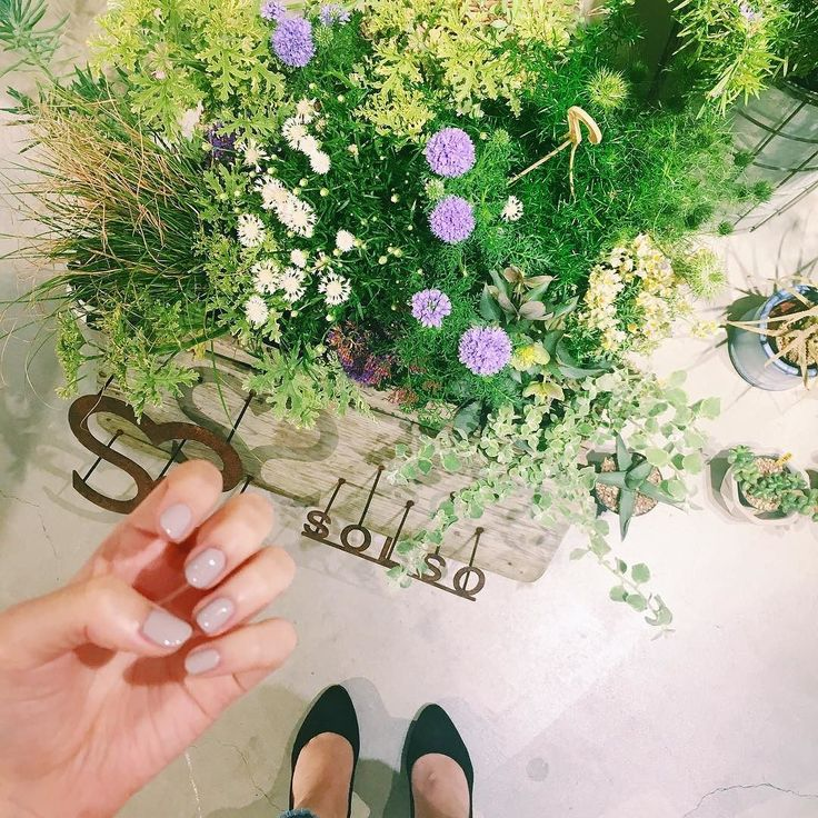 SO-CAL LINK GALLERYレセプション NAILS INCのブースでネイルしてもらいました! ジェル並みにつやつや #NAILSINC #solso #flowers #nails #チョリメン by cremenatsu