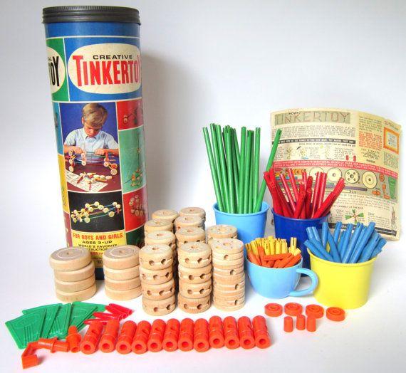 Vintage 1970 Original Tinkertoy