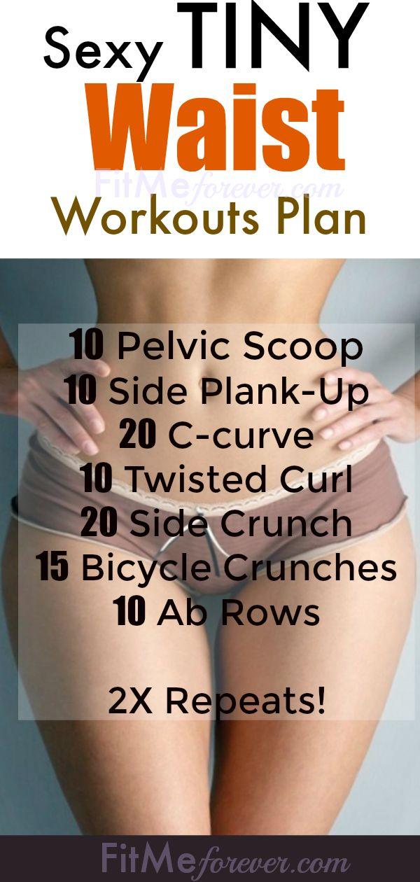 Best tiny waist workout plan How to get a smaller waist, bigger hips, and flat b...