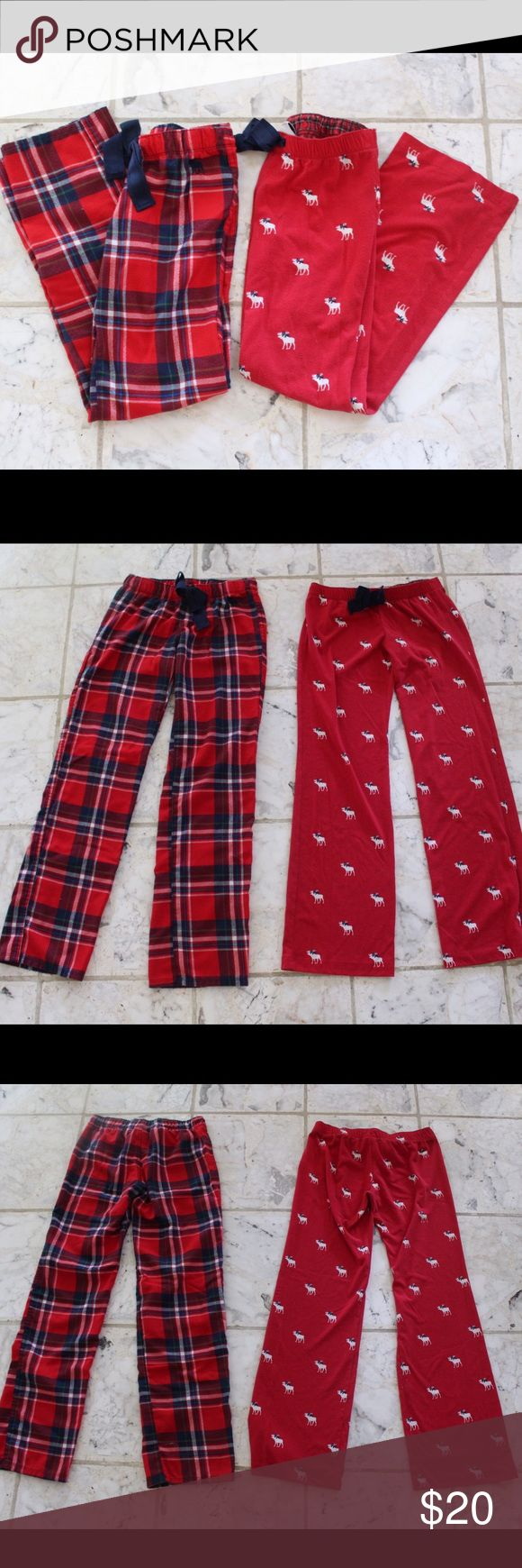 Bundle of 2 kids pajama pants! 3 pairs of pajama pants! Barely worn! In perfect condition! All offers welcome :) abercrombie kids Pajamas Pajama Bottoms