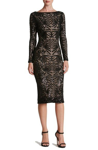 Dress the Population 'Emery' Sequin Midi Dress available at #Nordstrom