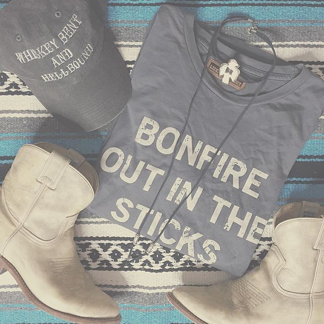 Bonfire Tee & Whiskey Bent Hat License to Boot