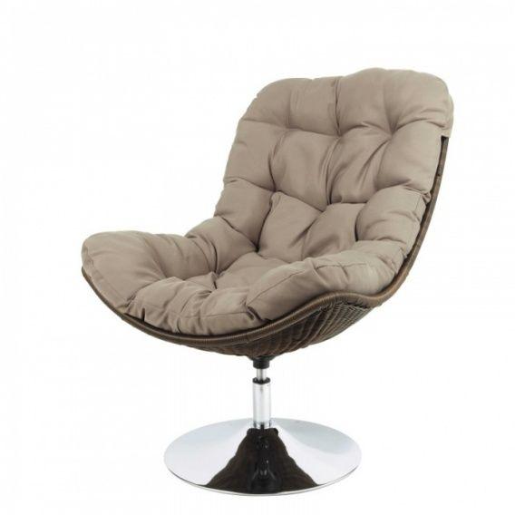 Кресло на металлической ноге вращающееся ВУДИ