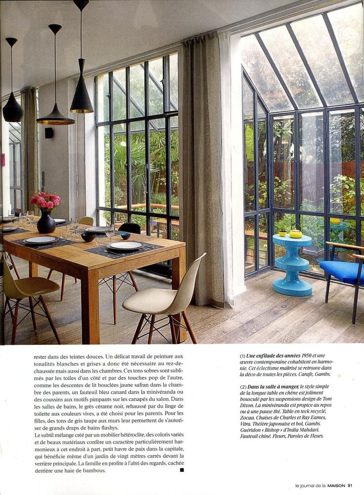 Rideaux en lin sur mesure par Lina Forlino - Maison de ville, Paris - En collaboration avec Zocaa Material & design
