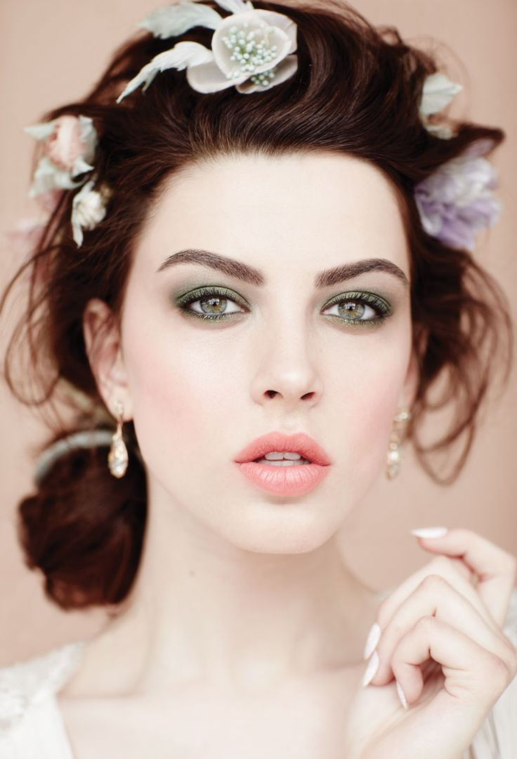 Want a smoky eye that's a little less statement? Instead of bronze or grey shadow, try shades of green. Play with warm moss, olive and cooler sage tones – there is actually a green complementary to all eye colours and skin tones.