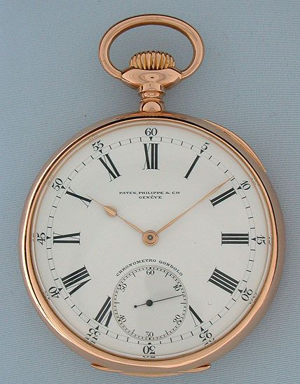 Antique Pocket Watches - Patek Philippe Chronometro Gondolo #6074 Patek Philippe Chronometro Gondolo Circa 1911