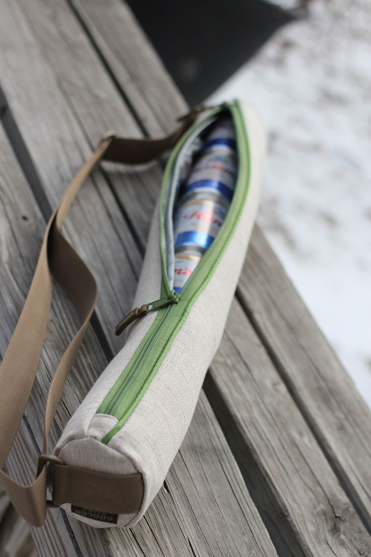 Beer cooler looks like a yoga mat carrier! Keep those beverages cold on your bike to the beach, your hike to the crag, or on your way to the party.