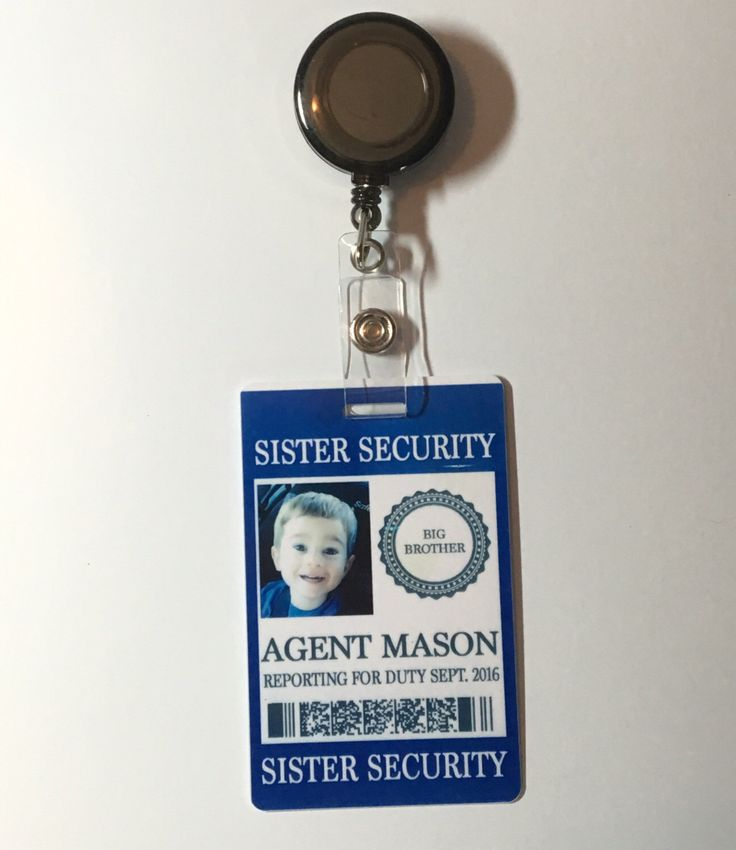A personal favorite from my Etsy shop https://www.etsy.com/listing/464995869/sister-security-badge-pregnancy
