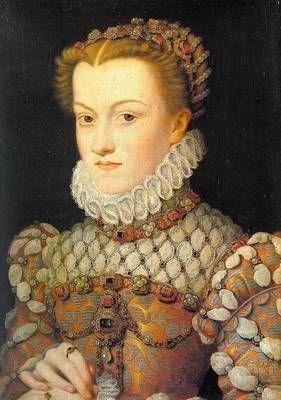 Portrait painting by Francis Clouet, Elisabeth of Austria: King Charles, 16Th Century, Queen, Francois Clouet, Françoi Clouet, Christian Louboutin, Charles Ix, Painting, Austria