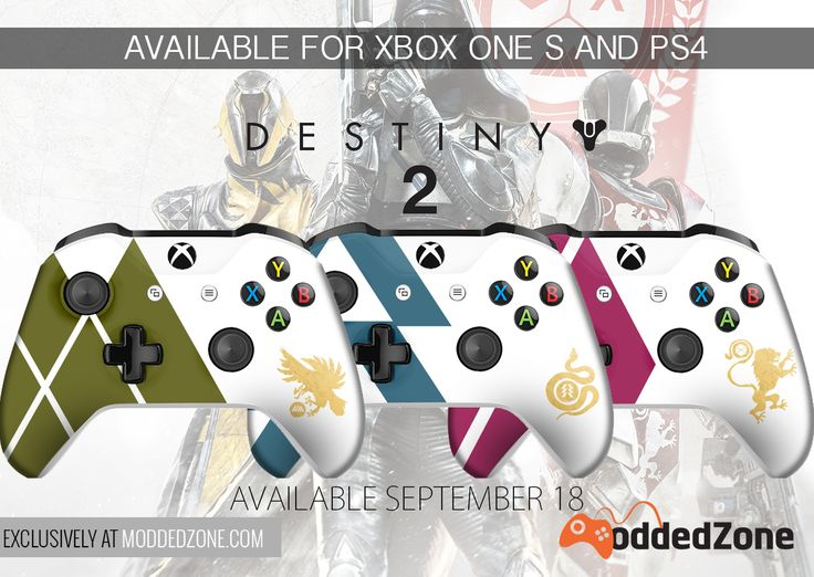 Destiny 2 Edition for Xbox One S and PS4 controllers coming soon. Available September 18th - EXCLUSIVELY at www.moddedzone.com #destiny2 #xboxones #xboxonecontroller #xboxonescontroller #ps4controller #customcontroller #moddedcontroller