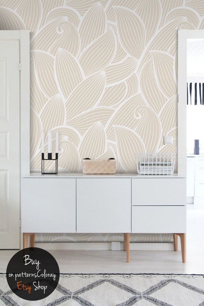 Abstract Pattern Peel And Stick Wallpaper Reusable Etsy Wall Murals Wall Patterns Abstract Pattern