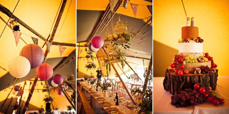 Like the decor...    Oakham Castle & Papakata teepee Wedding