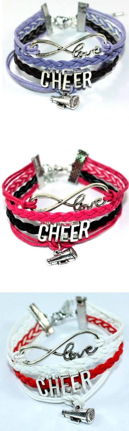 Infinity Love Cheer Bracelet! Click The Image To Buy It Now or Tag Someone You Want To Buy This For.  #Cheerleader