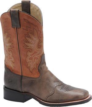 "Men's Double H Boot 11"" Wide Square Toe Roper - Chocolate/Burnt Orange"