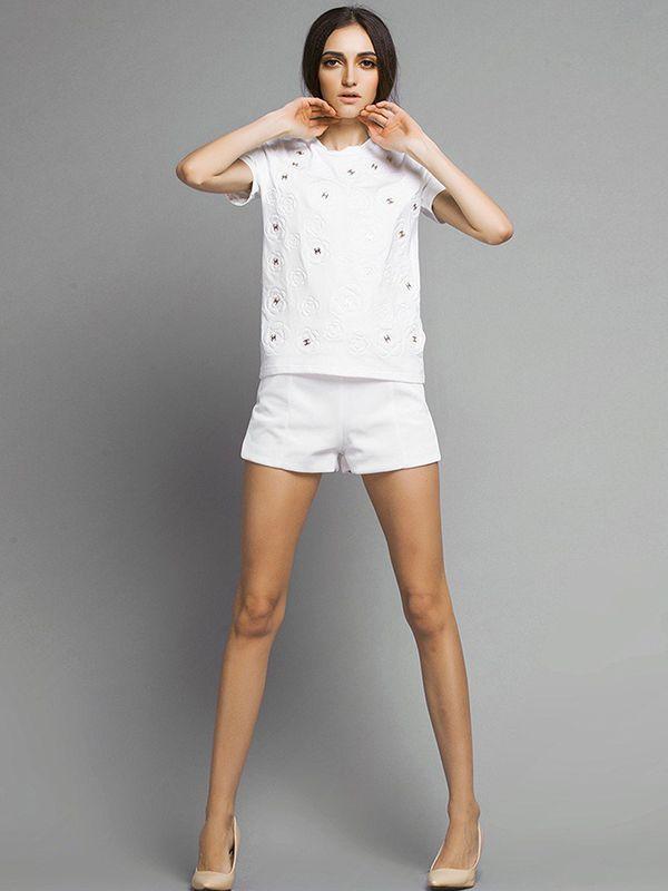Casual Mini Straight Shorts : KissChic.com