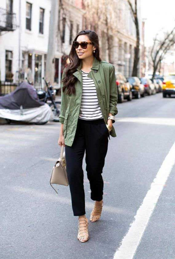 What To Wear With A Green Jacket Outfit Khaki Green Jacket Womens Dark Green Jacket Wome In 2020 Green Jacket Outfit Olive Green Jacket Outfits Spring Jacket Outfit