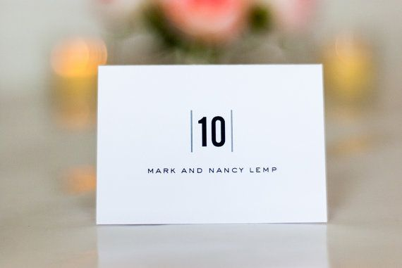 Simple Wedding Place Cards, Name Cards, Escort Cards, Minimal, Modern, Clean