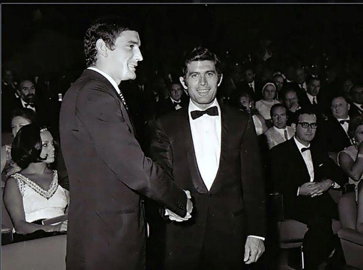 Gigi Riva, con Giacomo Agostini: due campionissimi dello sport