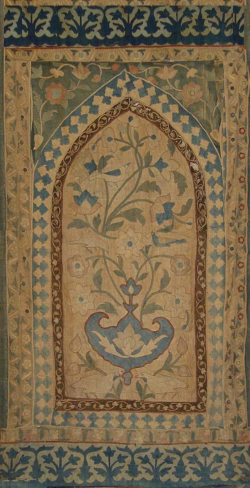 Antique Indian Textile. Cotton Applique panel from a tent. 1750-1850 A.D