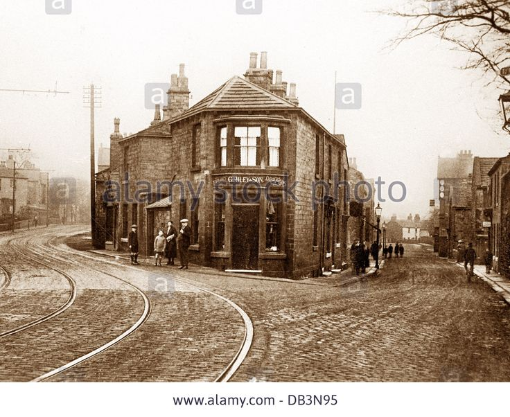 Horbury Wakefield Road and Cluntergate early 1900s Stock Photo