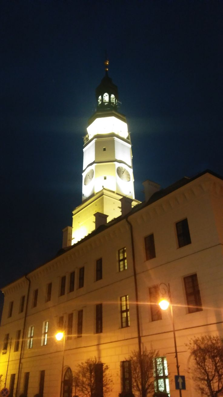 Ratusz nocą. / Town hall in the night. | Głogów (Lower Silesia Voivodeship), Poland