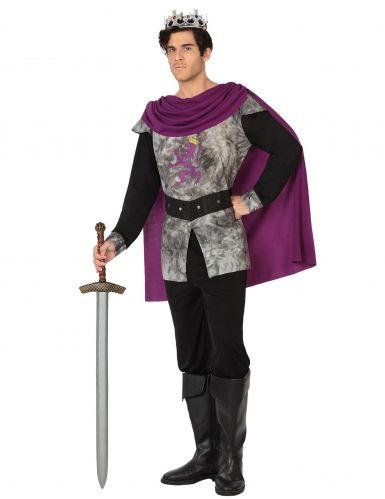 Calati nei panni di un prode cavaliere in occasione del prossimo Carnevale o di una serata in maschera a tema sull'epoca medievale grazie a questo superbo travestimento da cavaliere del Medioevo in grigio e viola!