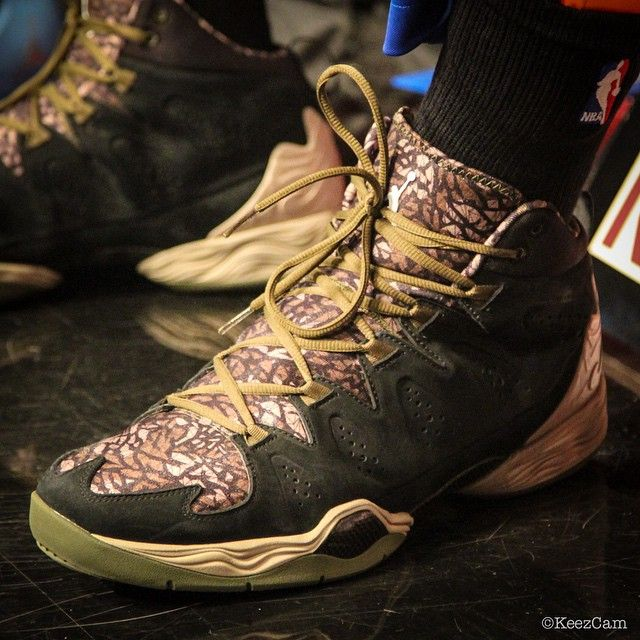 #SoleWatch: Carmelo Anthony Honors Troops with 'Elephant Camo' Jordan Melo M10 PE