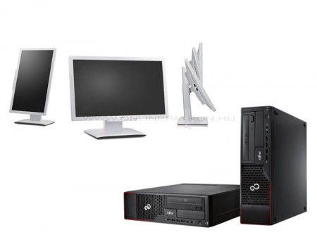 "FUJITSU E710 I5 3470 + 4GB + 250GB + DVD + 23"" B23T-6 Monitor + Billentyűzet + Egér 12 hónap garanciával."