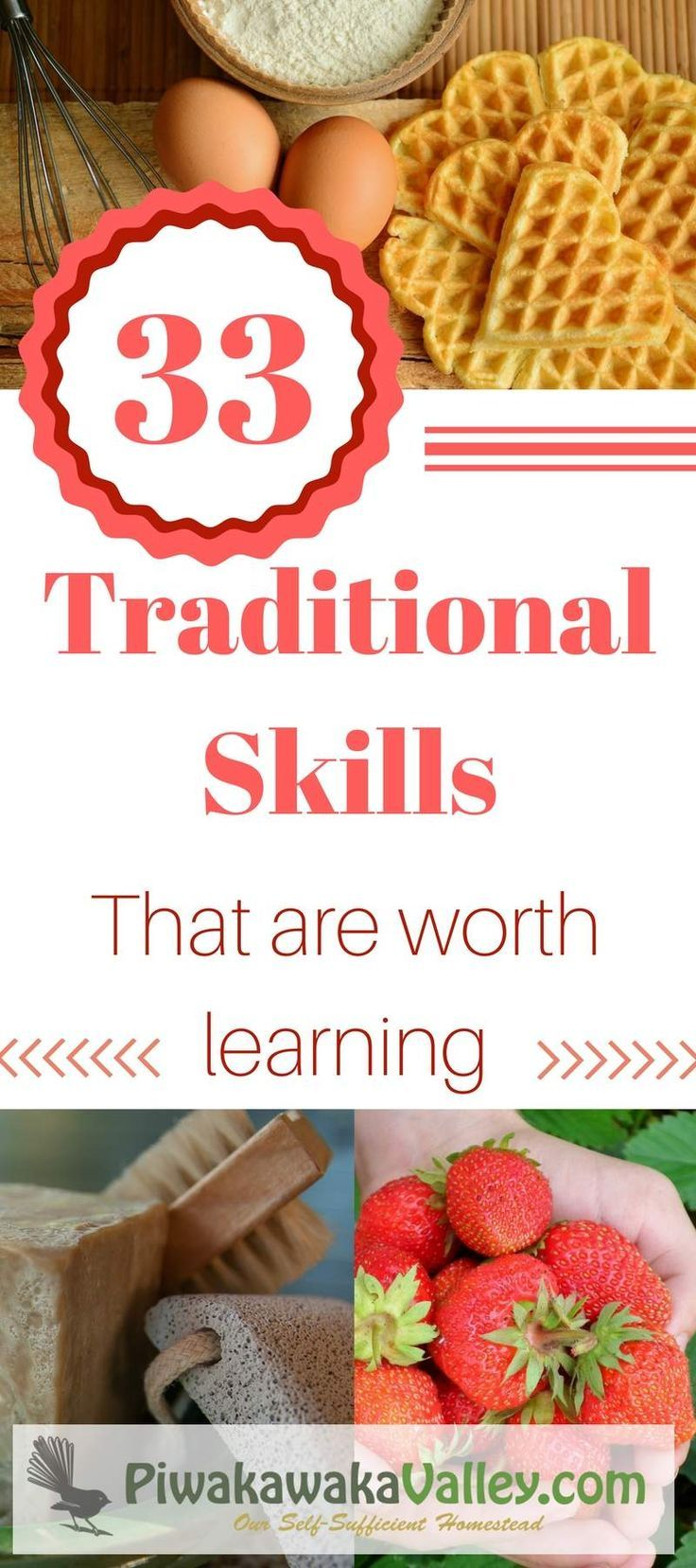 Are you keen to join the uprising of the return to traditional ways of life? These 33 traditional skills will help you on your road to self sufficiency. #homesteading #traditional #selfsufficient