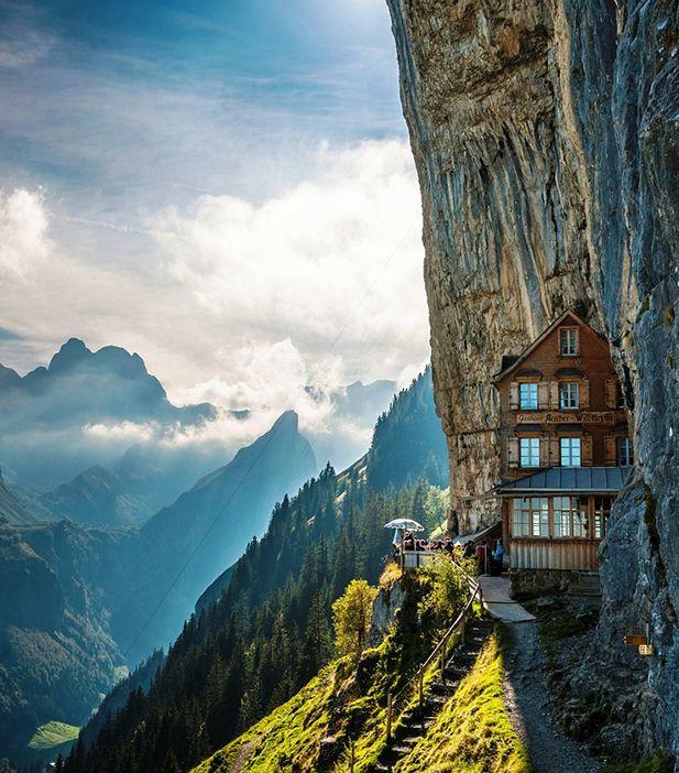 Amazing Places To Stay Switzerland: Amazing Ascher Cliff Hotel - Switzerland