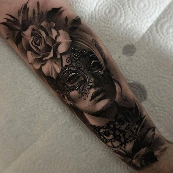 Masquerade tattoo by Matias Noble