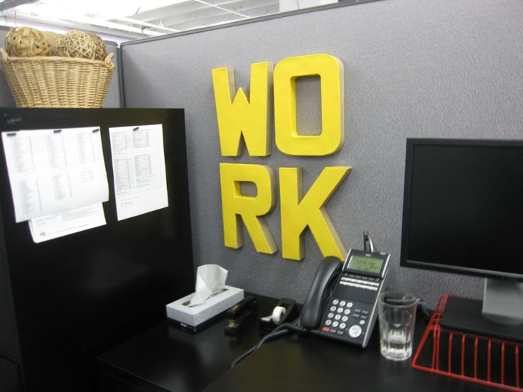 chic cubicle decor | My Web Value