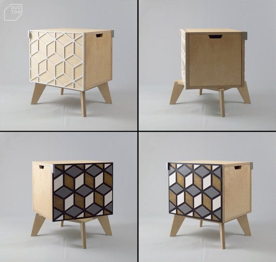Double sided nightstand bedside cabinet bedside table end
