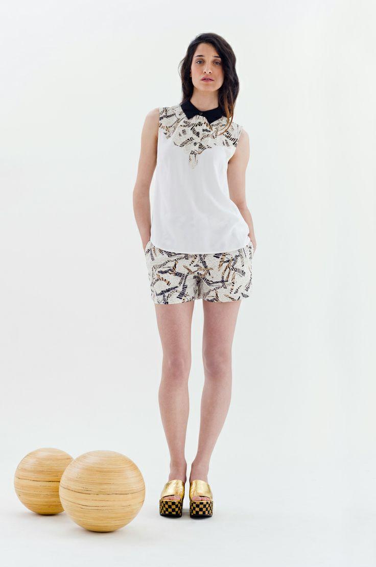 Fine Printed Shorts & Shirt | Antonella Boutique  #Numph #Birtil #shirt #shorts #Ras #fashion #AntonellaBoutique