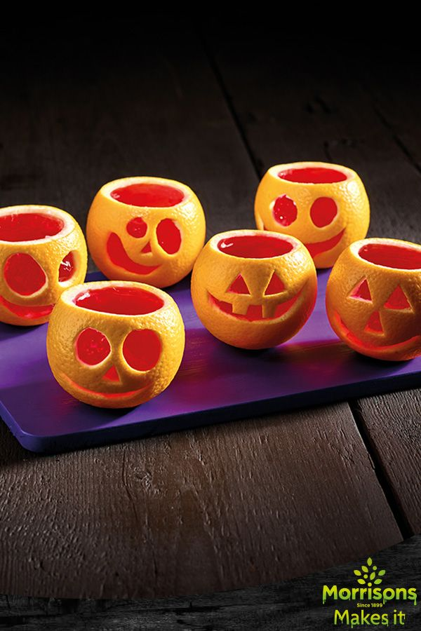 Orange Jelly Jack O'Lantern. Trick or treat? Make this mischievous recipe with your little ones.