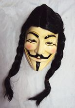 mode v for vendetta masker halloween cosplay kostuum guy fawkes anonieme masker partij maskers voor vrouwen en mannen(China (Mainland))