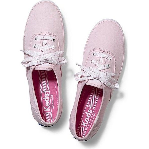 Keds CHAMPION STRIPED LACE found on Polyvore featuring shoes, sneakers, pink, accessories, keds, light pink, lace sneakers, colorful shoes, light pink sneakers and striped sneakers