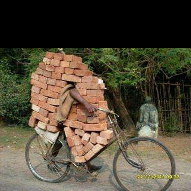 Everyday, we are taken to school on how to maximize cargo capacity where transportation is concerned! God bless Africa!