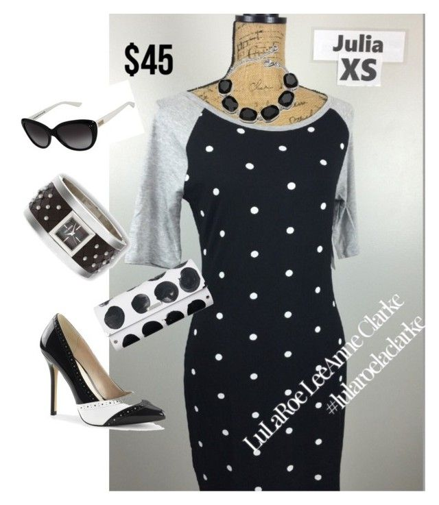"""Julia with class!"" by lulaclarke on Polyvore featuring Steve Madden, Spanaki, Kate Spade, lularoelaclarke, lularoejulia and OodlesOfOriginal"