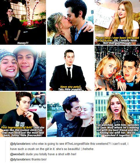 Dylan O´Brien and his girlfriend Britt Robertson