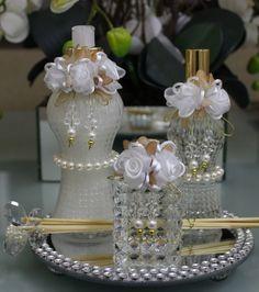 Conjunto Luxo para toalete com flores de seda , pode ser usado como kit…